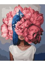 Charming Woman Flower Head