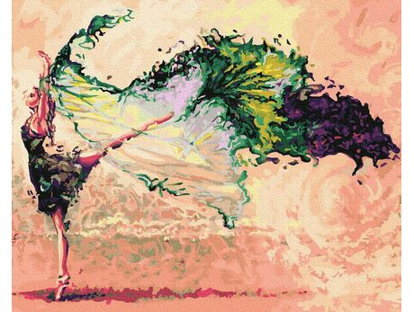 Fabulous dance paint by numbers