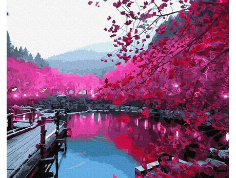 Sakura blossom paint by numbers