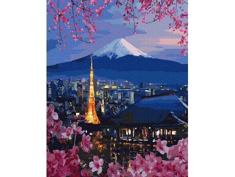 Fujiyama and Sakura paint by numbers