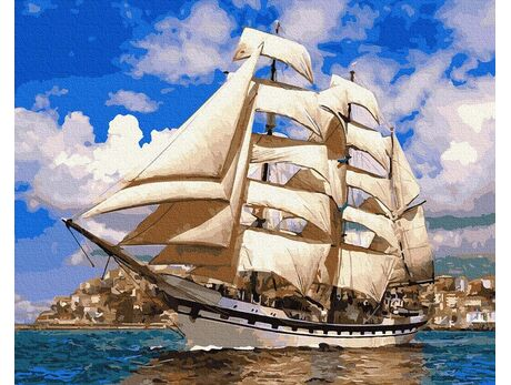 On full sails paint by numbers