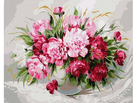 Colorful bouquet paint by numbers