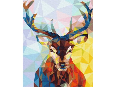 Geometric deer paint by numbers