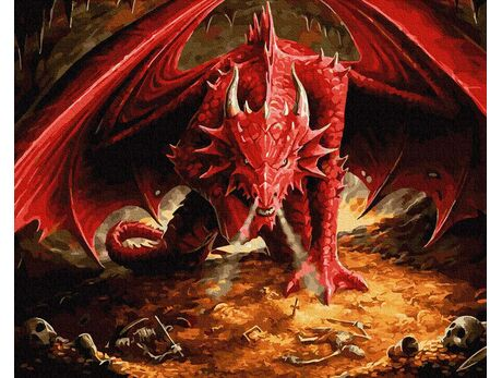 Red dragon paint by numbers