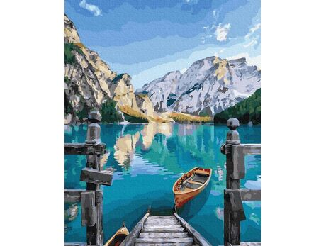 Mountain lake paint by numbers