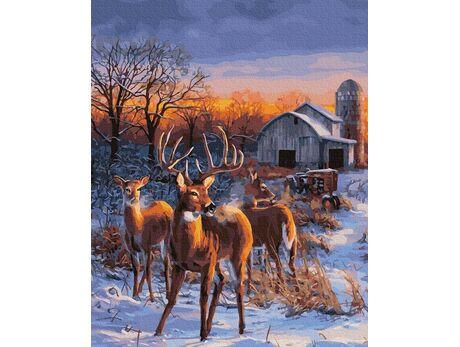 Deer leader paint by numbers