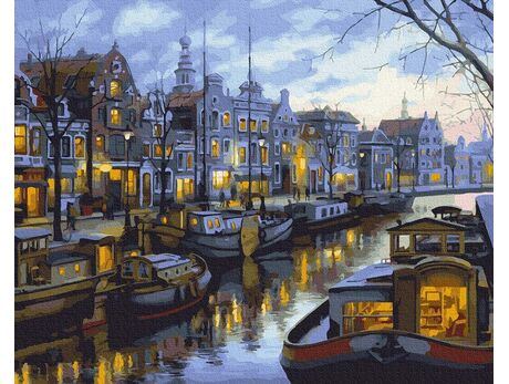 Amsterdam canals paint by numbers