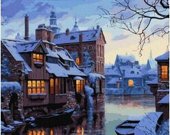 Winter evening in Bruges