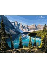 The beauty of a mountain lake