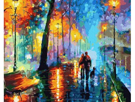Walk in the rain paint by numbers
