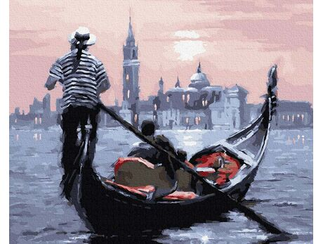 Sunset in Venice paint by numbers
