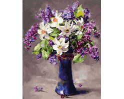 Lilac and lilies
