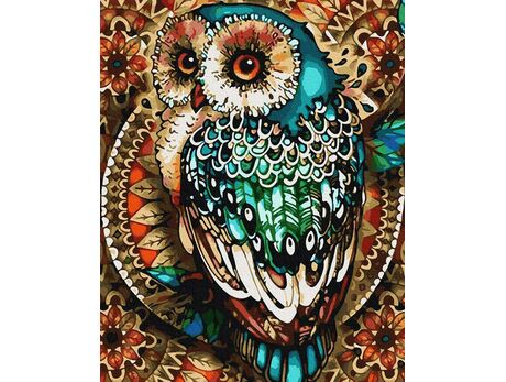 Owl ornament paint by numbers