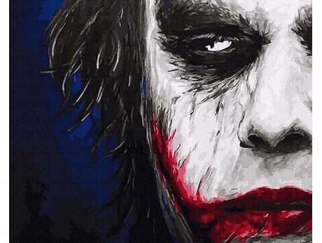 Joker. A sinister smile paint by numbers