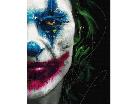 Joker smile paint by numbers