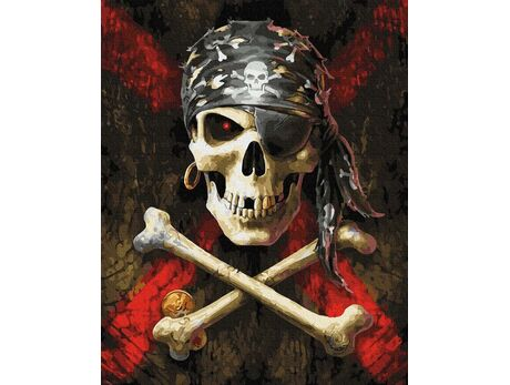 Pirate symbols paint by numbers