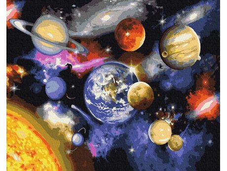 Parade of planets paint by numbers