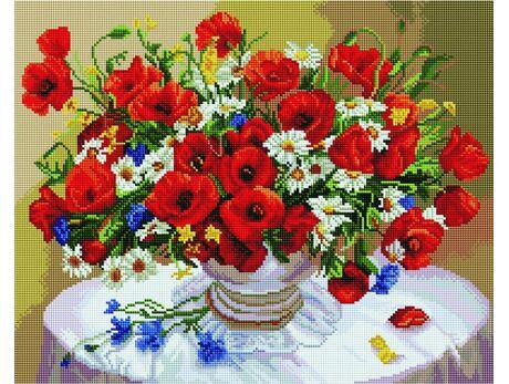 Cornflowers, daisies, poppies diamond painting