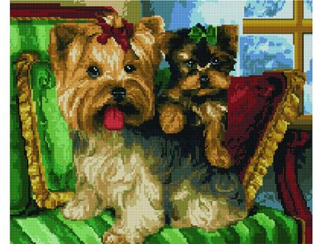 Funny yorkies diamond painting