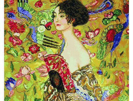 Gustav Klimt. Lady with a Fan diamond painting
