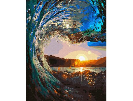 The wave paint by numbers