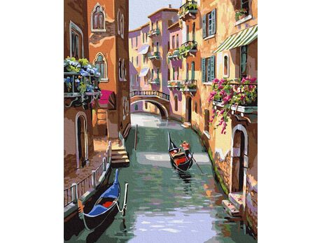 Fabulous streets in Venice paint by numbers