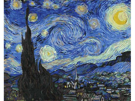Vincent Van Gogh - Starry Night paint by numbers