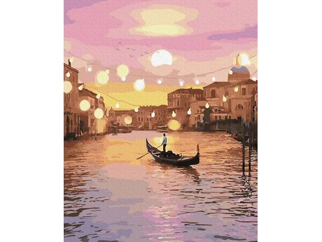 Venice in the glow of the lights paint by numbers