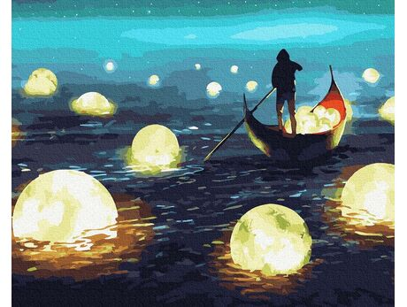 Moon catcher paint by numbers