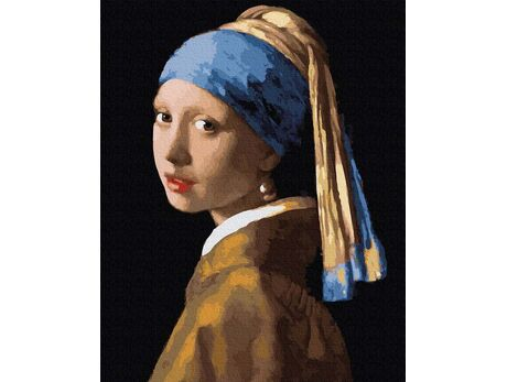 Jan Vermeer. Girl with a pearl earring paint by numbers