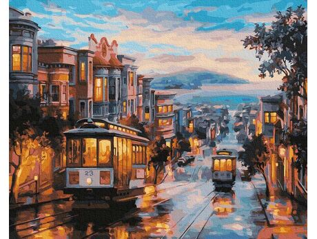 San Francisco streets paint by numbers