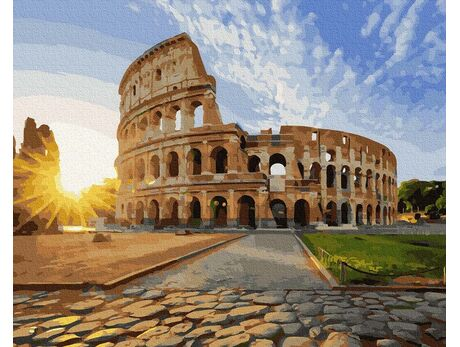 Colosseum in the sun paint by numbers