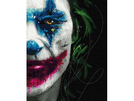 Joker smile paint by numbers