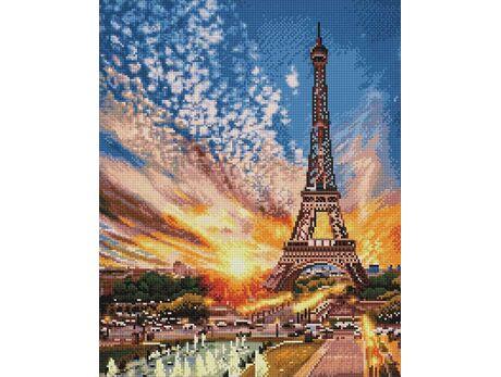 Sunset over Paris diamond painting