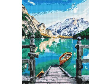 Lake in the mountains diamond painting