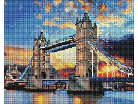 Beautiful sky over the Thames diamond painting