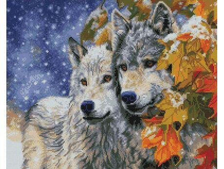 Wolf couple diamond painting