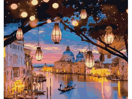 Venice night lights paint by numbers