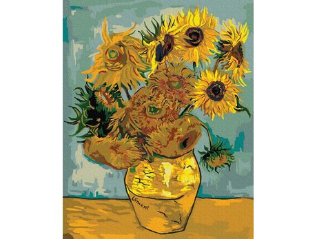 Sunflowers (Van Gogh) paint by numbers