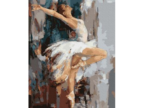 White Swan paint by numbers