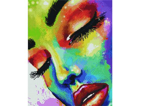 Girl in colors diamond painting