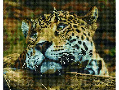 Sweet leopard diamond painting