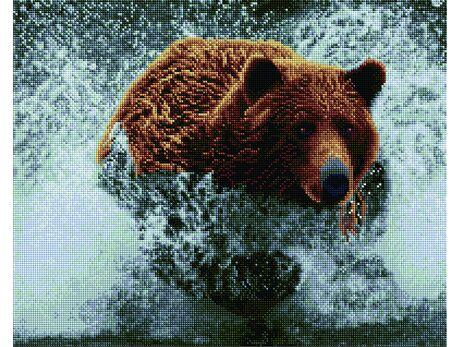 Running bear diamond painting