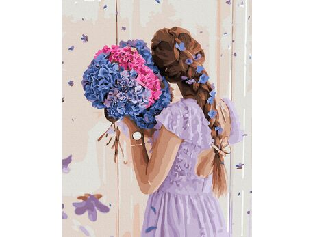 Magic hydrangea paint by numbers