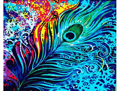 Peacock eye paint by numbers