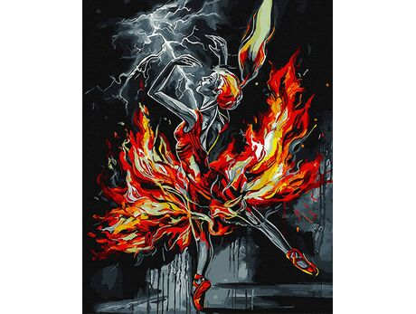Burning Ballerina paint by numbers
