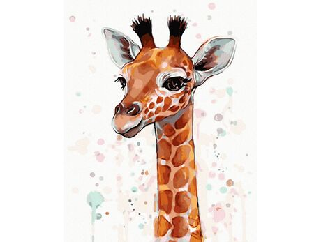 Giraffe paint by numbers