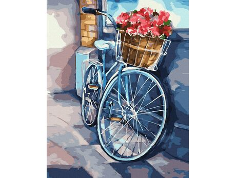 Bicycle trips paint by numbers
