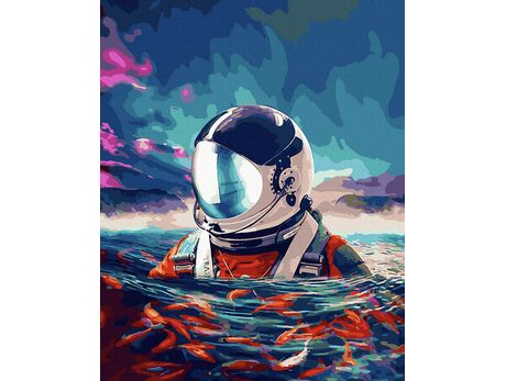 Astronaut in the Ocean paint by numbers