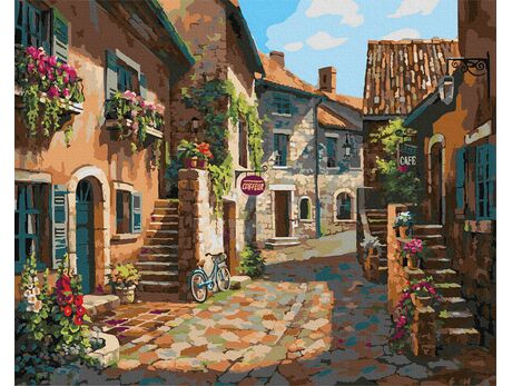 Italian streets paint by numbers